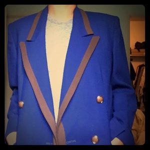 Christian Dior: The Suit Blazer royal blue